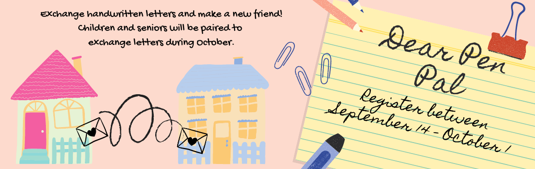Sign up for Dear Pen Pal today.