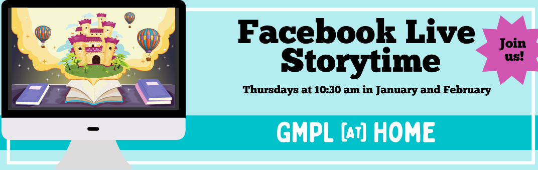 Join us for Facebook Live Storytime at 10:30 am on Thursdays