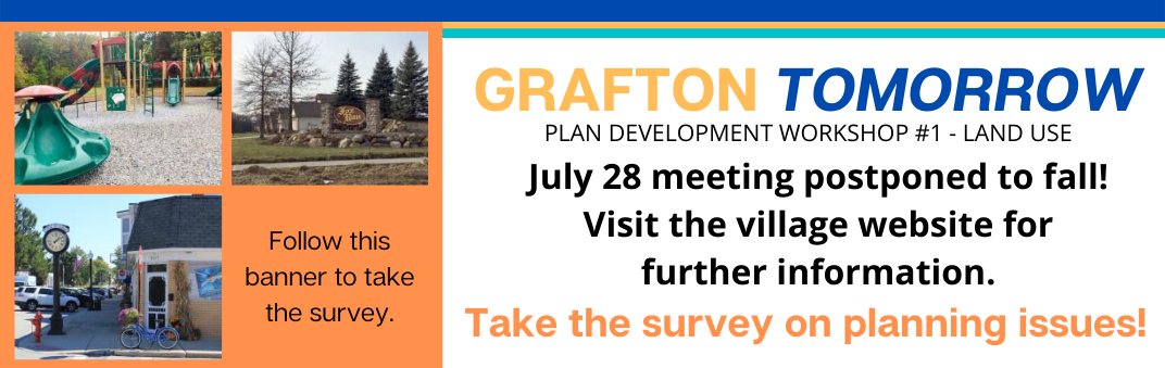Grafton Tomorrow July 28 meeting canceled.