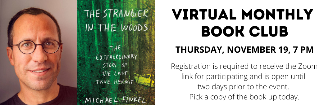 Join our Virtual Book Club on Thursday, November 19 at 7 PM