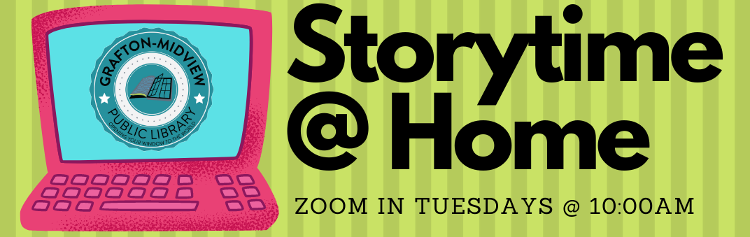 Storytime at home is Tuesday, November 24